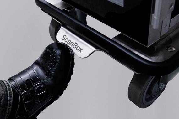 ScanBox Central Brake System 160mm Chromed Castors
