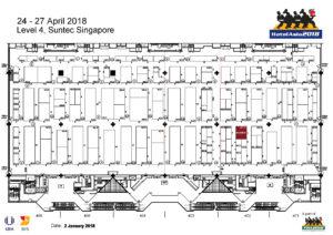 ScanBox FHA2018 Suntec Singapore Floor Plan Level 4