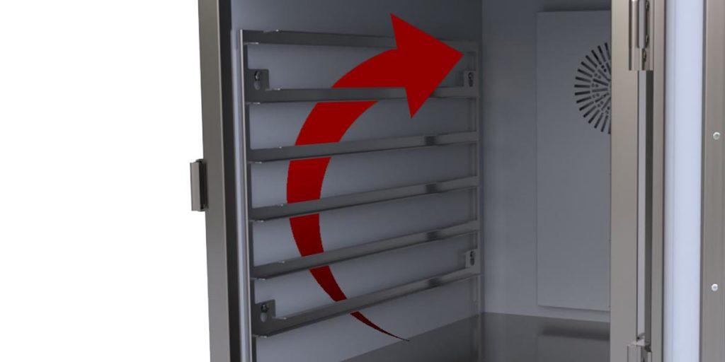 Luftcirkulation i ScanBox Löstagbara Gejderstegar
